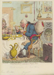 by James Gillray, published by Hannah Humphrey, hand-coloured stipple engraving, published 28 July 1792